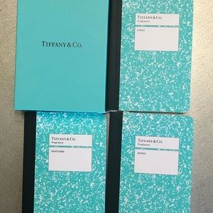 TIFFANY & CO set of 3 small notebooks Never Used